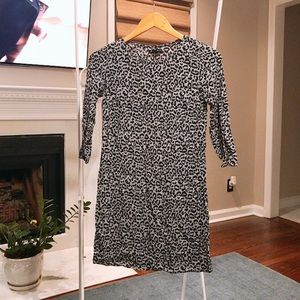 Madewell leopard tunic dress